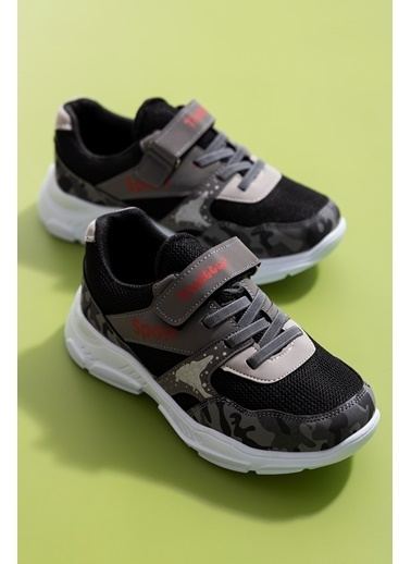 Tonny Black Füme Kırmızı Çocuk Spor Ayakkabı Tbz02 Tbz02-3_246 Füme